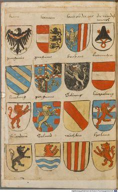 Wappen besonders von deutschen Geschlechtern Süddeutschland ?, 1475 - 1560 Cod.icon. 309  Folio 2v