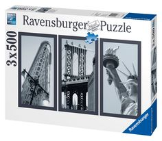 Puzzle from ravensburger the set comes with three 500 piece puzzles