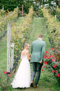 October wedding at Potomac Point Winery. Photographer: Astrid Photo October Wedding, Vineyard Wedding, Vows, Real Weddings, Wedding Photos, Wedding Dresses, Fall, Beautiful, Fashion