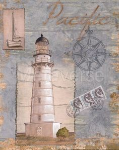 Seacoast Lighthouse II Fine-Art Print by Paul Brent at CoffeeDecor.com