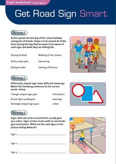 A series of worksheets to help pupils recognize different types of road signs and gain a better understanding of general road safety #ChildSafetyWeek
