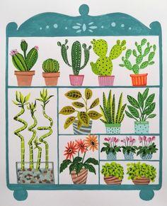 Plant Painting, Cactus Plants, Plant Leaves, Succulents, Green, Cacti, Succulent Plants, Cactus, Plant Drawing