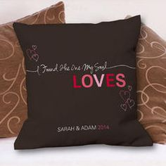 Romantic Love Personalized Throw Pillow
