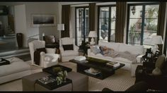 "From the movie,""Life as we know it"". I'm in love with the house! BEST LARGE LIVING ROOM ARRANGEMENT"