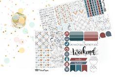 Planner Sticker Weekly Kit Diamonds for your Erin Condren Life Planner, Plum…