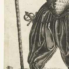 Kapitein van de infanterie, Hendrick Goltzius, anoniem, 1583 - 1600