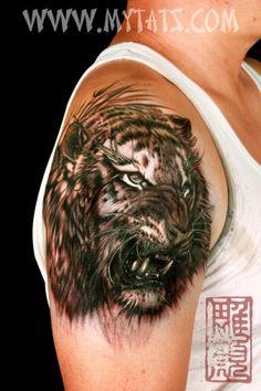 Tiger done by Jess Yen (Horiyen) http//www.mytats.com