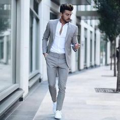 Men Wedding Suits Prom Best Man Suit (Jacket+Pants+Bow) – myshoponline.com