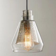 Mercury Glass Pendant Light, Glass Pendant Shades, Mini Pendant Lights, Glass Pendants, Pendant Lighting, Kitchen Pendants, Contemporary Pendant Lights, Modern Pendant Light, Modern Contemporary