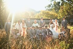 I love this shot of all of us in the paddock on our vintage lounge suite.