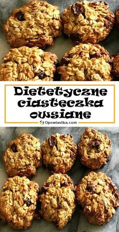 Chcesz być fit? Przygotuj pyszne i dietetyczne ciasteczka owsiane! Healthy Deserts, Healthy Sweets, Vegetarian Recipes, Cooking Recipes, Healthy Recipes, Oatmeal Recipes, Food Porn, Good Food, Dessert Recipes