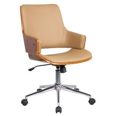 found it at joss main solene high back leather office chair with arms - Desk Chair Design