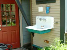 Outdoor sink for washing veggies or homebrew equipment.