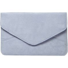 Dorothy Perkins Denim Blue Suedette Clutch Bag (1,140 INR) ❤ liked on Polyvore featuring bags, handbags, clutches, accessories, bolsa, purses, blue, blue hand bag, hand bags and denim hand bags