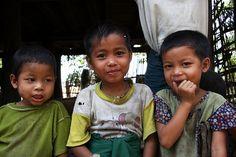 Children in the Chin State, Myanmar