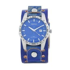 Nemesis Men's LVT027L Classic Stainless Steel Blue Sporty Leather Cuff Watch Nemesis. $47.49. Mineral crystal, luminous hands. Water-resistant to 330 feet (100 M). Case diameter: 54.00 mm. Precise Japan Quartz movement. Stainless steel case with genuine wide leather strap
