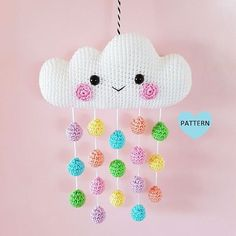* Please note that this is a crochet pattern PDF and NOT a finished item * ........................................................................................................................ This is a pattern for a super cute and happy Cloud Mobile! Maybe you want to make it as a gift to a baby you know or why not make it for yourself! .......................................................................................................................... The pattern has well written…