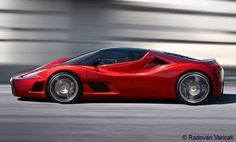 Ferrari F70 - the successor to the Enzo Ferrari, which is due fall 2012.  Expected to feature a hybrid 800-horsepower 7.3-liter V12, mated with a KERS system & 120-hp electric motor = 920hp. Challenger to the Bugatti Veyron