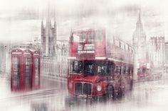 British Photograph - City-art London Westminster Collage II by Melanie Viola