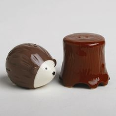 Ridiculously cute Hedgehog + Tree Stump salt and pepper shaker from All Modern