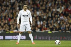 Cristiano Ronaldo Staring At The Ball, About To Take A Penalty.