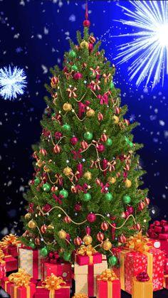 Christmas Tree Gif, Christmas Tree Coloring Page, Christmas Scenery, Christmas Poster, Merry Christmas And Happy New Year, Christmas Time, Christmas Crafts, Christmas Decorations, Animated Christmas Pictures