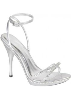 silver heels for prom | SAKIS SILVER SA by High Street Shoes - UK Prom Dress