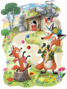 John Nez Illustration - Mouse & Squirrel