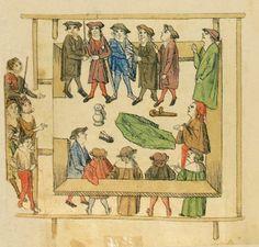 1504 Das Volkacher Salbuch (The Volkacher Chronicle) - Eine illustrierte Rechtsordnung - Vor Gericht [folio 394v]
