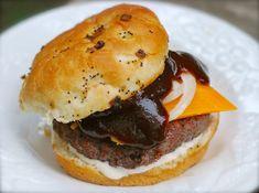"""secret ingredient"" bbq ranch cheeseburger"