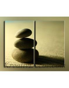Модульная картина Камни на песке (MR00183)
