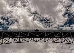 #Bridge from Below by Britt Runyon #LookTowardstheSky #cloudscape