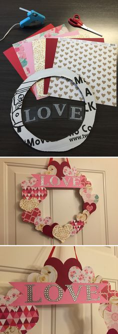 Welcome guests with this easy DIY Valentine's Day wreath tutorial!