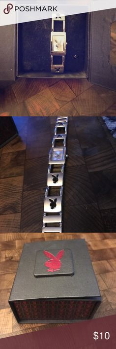 Playboy bunny watch Comes with case bunny cutouts on the whole watch battery is dead due to sitting in drawer forever playboy bunny Accessories Watches