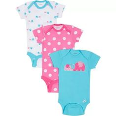 Gerber Onesies® 3-Pack Fashion Short Sleeve - Girl for sale at Walmart Canada. Get Baby online for less at Walmart.ca