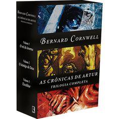 Box As Crônicas de Artur (3 Volumes) - Bernard Cornwell: O Rei do Inverno, O inimigo de Deus e Excalibur.