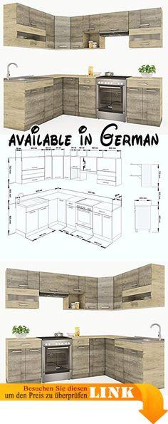 B0085L5YTS  Amaretta Vitrinenschrank Aufsatzbuffet antik - küchenblock 260 cm