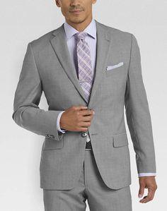 Joseph Abboud Light Gray Tic Slim Fit Suit - Slim Fit   Men's Wearhouse