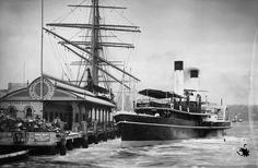 Paddle steamer Brighton at Manly wharf