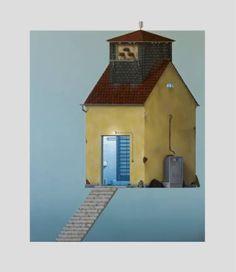 "Saatchi Art Artist André Schulze; Painting, ""Server house (old electricity house)"" #art"