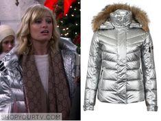 2 Broke Girls: Season 4 Episode 7 Caroline's Silver Puffer Jacket