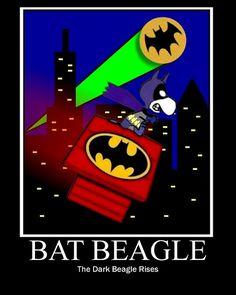 Snoopy as BAT BEAGLE : The Dark Beagle Rises by DarkJediKnight, via Flickr