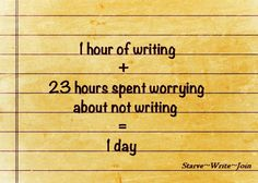 24 Hours as a Writer-- better than 24 hours spent worrying about not writing!