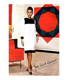 1960s VOGUE MOD DRESS Pattern Yves Saint Laurent Mondrain Dress Color Block Vogue 1556 Paris Original Bust 32 Womens Sewing Patterns UNCuT on Etsy, $397.98 AUD