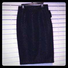 Worthington black jacquard skirt This skirt has a pretty shine to it. From top of skirt to bottom 26'. Slit in back of skirt (pic #3) Worthington Skirts