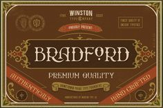 FREE Bradford Font - Personal Use Only