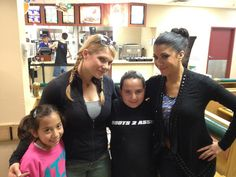 My grandkids have all the luck!  They ran into a couple of WWE divas after the show last night in Rochester! Seen them at Arby's on the thruway when they stopped to get gas!!  Shay & McKenzy with 2 WWE divas!!!!