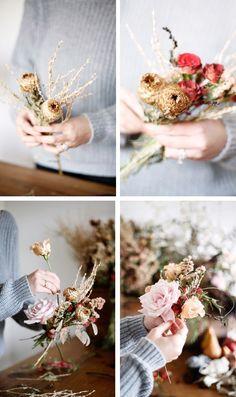Floral Tutorial :: Foraged Fall Posy Bouquets   coco kelley   Bloglovin'