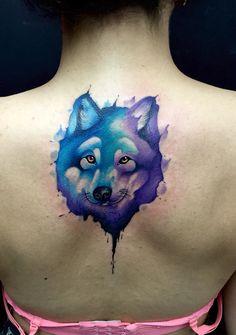 Wolf watercolof tattoo By Juan David Castro R Tattoo 2015, Watercolor Tattoo, Wolf, David, Tattoos, Tatuajes, Tattoo, Wolves, Temp Tattoo