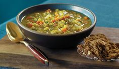 Curried Red Lentil Soup with Lemon